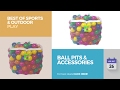 default - Click N' Play Value Pack of 400 Phthalate Free BPA Free Crush Proof Plastic Ball, Pit Balls - 6 Bright Colors in Reusable and Durable Storage Mesh Bag with Zipper