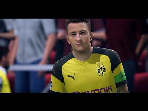 FIFA 19 GAMEPLAY - TOTTENHAM HOTSPURS VS BORUSSIA DORTMUND - CHAMPIONS LEAGUE - GAMESCOM 2018