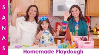 Homemade Easy to Make No Stove Colorful Play-dough for Kids in Urdu Hindi - SKS