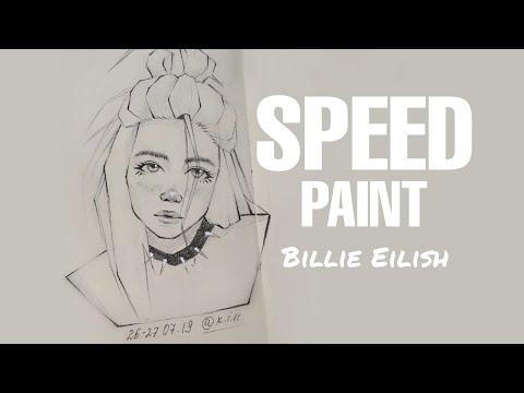 Рисую Billie Eilish и заполняю скетчбук