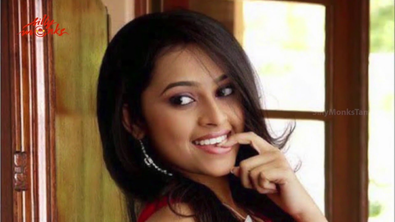 Sridivya image with red color dress