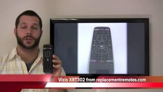 Vizio XRT302 Smart TV Remote Control with Apps & M-GO PN: XRT302 - ReplacementRemotes.com