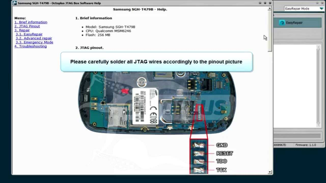 Samsung Sgh T479b Repair With Jtag Youtube Wiring Diagram