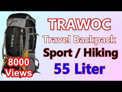 TRAWOC 55Liter Travel Backpack for Outdoor Sport Camp Hiking Trekking Bag Camping