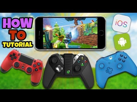 How To Use A Controller In Fortnite Mobile - Fortnite IOS Android Controller (No Hack/Cheat)