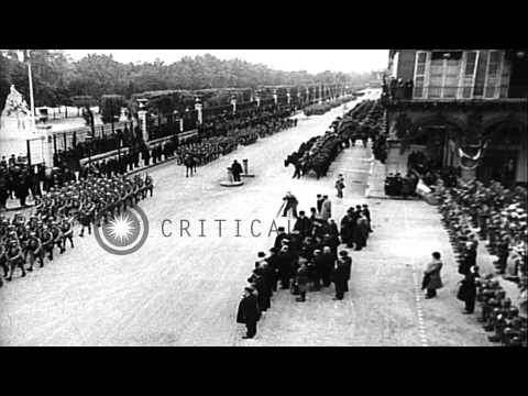 An elaborate pageant honors Joan of Arc on the anniversary of her victory at the ...HD Stock Footage