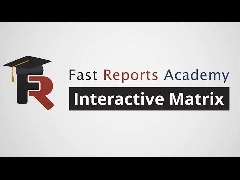 FastReport .NET Demo: Interactive Matrix