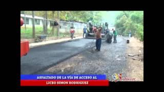 Obra del alcalde Vicente Cañas asfaltado acceso al Liceo Nal Simón Rodríguez en Las Dantas