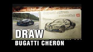 draw bugatti chiron