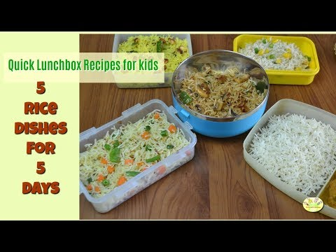 5 Lunchbox Ideas For 5 Days (Part 3) | Rice Based Lunchbox Recipes For Kids