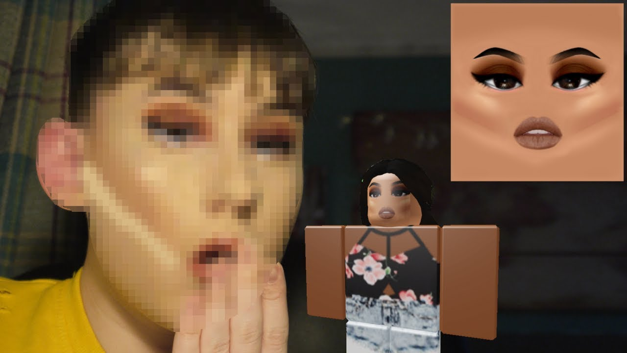 Myself Into A Roblox Makeup Face