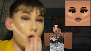 TURNING MYSELF INTO A ROBLOX MAKEUP FACE