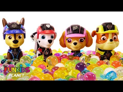 Thumbnail: Paw Patrol Chase, Skye and Pup Surprise Orbeez Bath - Learning Colors Videos for Kids