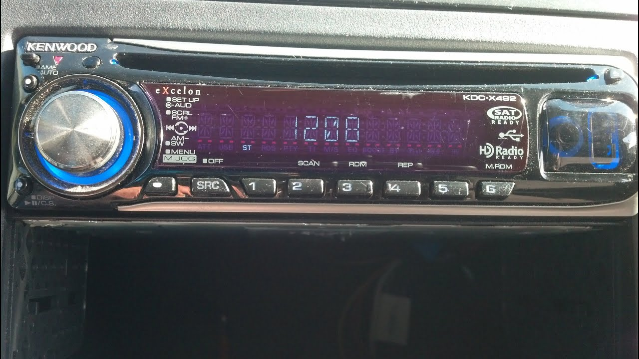 how to reset kenwood stereo protect off