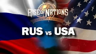 RUSSIA vs USA (Rise of Nations Extended Edition gameplay TOUGHEST)