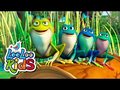 Cantec nou: Five Little Speckled Frogs - THE BEST Educational Songs for Children | LooLoo Kids