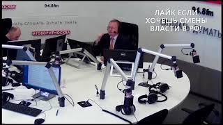 Смотреть видео Ведущий в шоке! За Грудинина 63% в голосовании на Говорит Москва онлайн