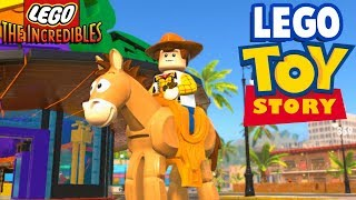 LEGO TOY STORY UNLOCKED! Toy Woody and Bullseye! - Lego The Incredibles 100% Free Roam Gameplay #15