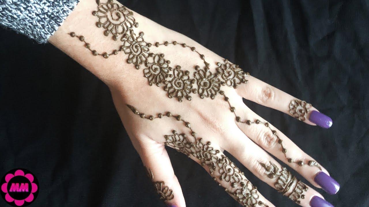 Modern Henna Designs: Most Stylish Khaleeji Mehndi Design