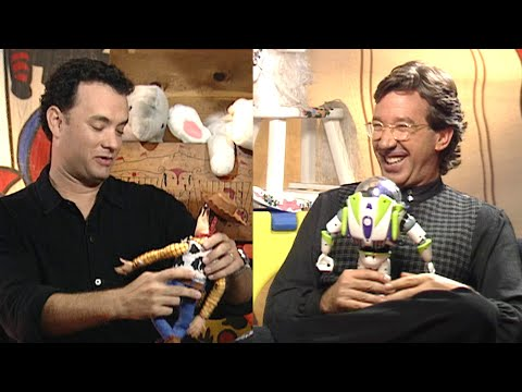 See Tom Hanks and Tim Allen REACT to Their Toy Story Action Figures