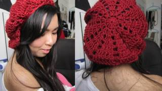 Repeat youtube video DIY:  Patched/Pyramid Beret (Crochet Tutorial)