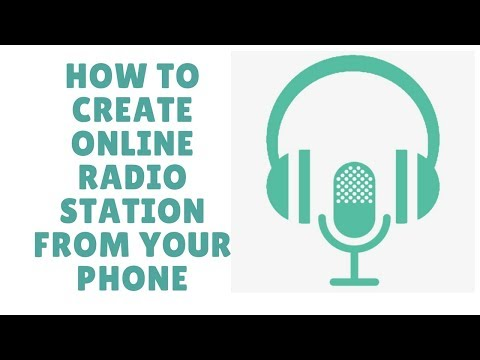 how to create online radio station from your phone