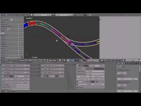 Blender Tutorial Making A Train Follow A Path In The Game Engine Using Steering Actuators