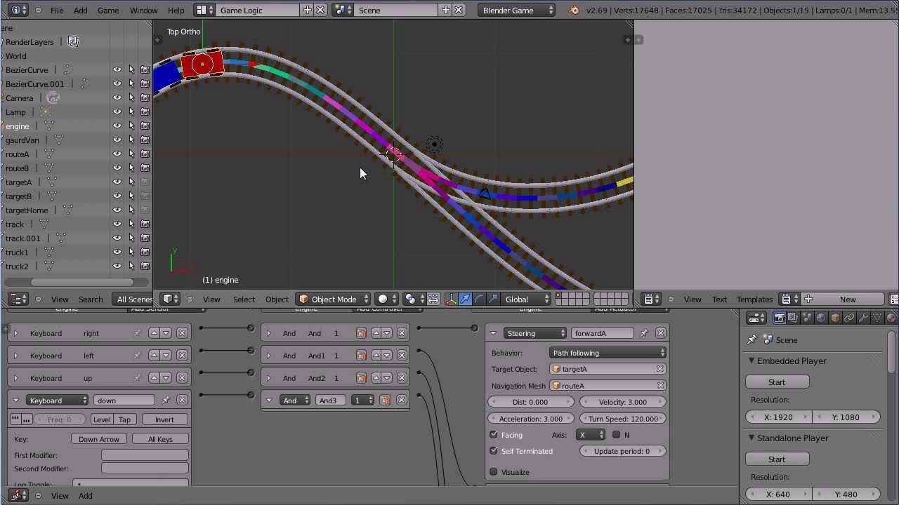 Blender Tutorial Making A Train Follow A Path In The Game