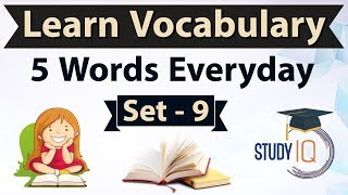 Daily Vocabulary - Learn 5 Important English Words in Hindi every day - Set 9 on Fanfaronade