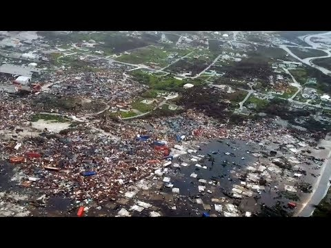 Hurricane Dorian's path of destruction revealed by aerial footage