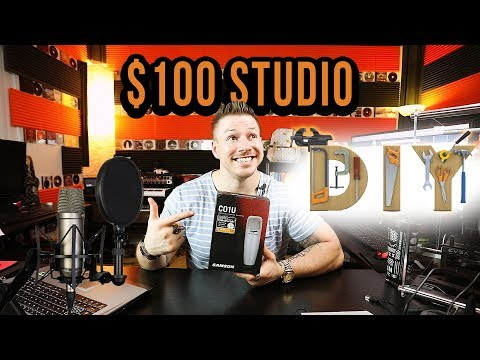 DIY $100 Cheap Recording Studio For Rappers