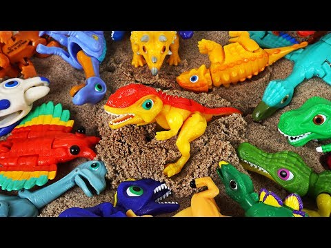 Come on! King of hunting! Dino Mecard tiny dinosaurs Monolophosaurus appeared! - DuDuPopTOY
