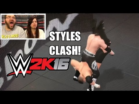 HEEL WIFE REACTS TO STYLES CLASH! WWE 2K16...