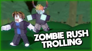 TROLLING in Zombie Rush (REALLY FUNNY!) | ROBLOX Gameplay