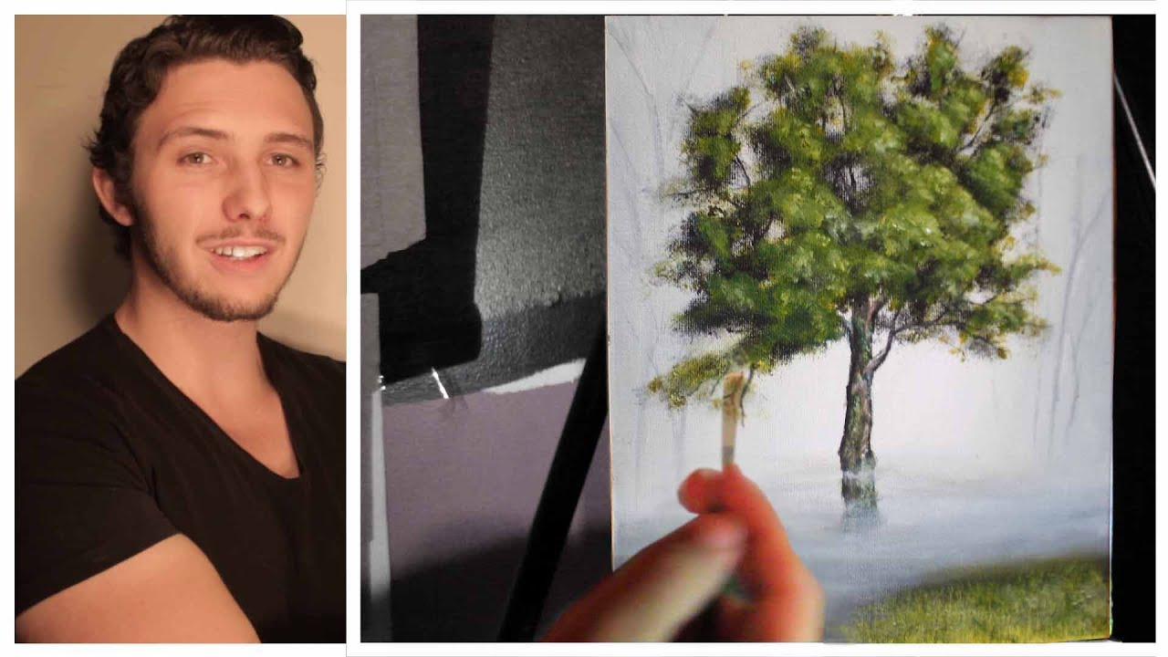 how to paint trees branches and leaves a basic speed painting tutorial of a tree youtube. Black Bedroom Furniture Sets. Home Design Ideas