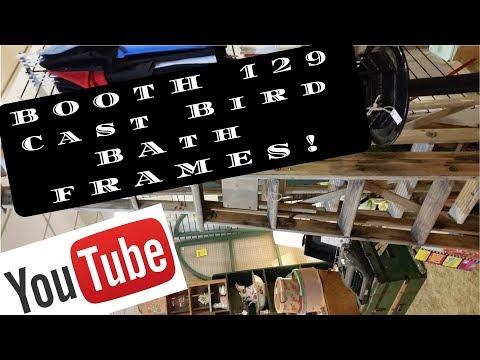 Booth 129 ladder Frame Cast Iron Books Vintage Strathroy ANTIQUE Mall SAM