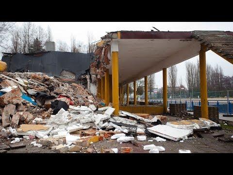 Rozbiórka restauracji Turkus na Lewitynie