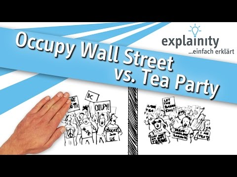 Occupy Wall Street vs. Tea Party einfach erklärt (explainity® Erklärvideo)