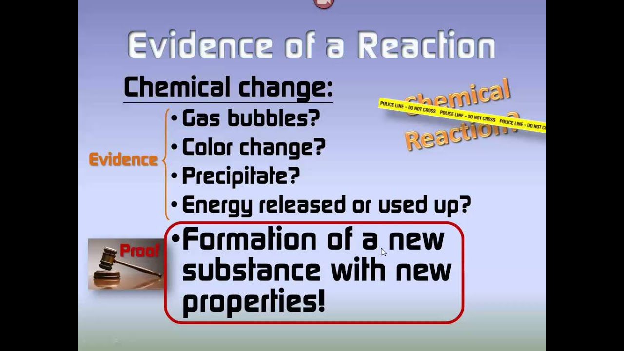 Evidence of a chemical reaction youtube robcynllc Choice Image