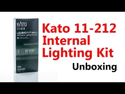 Kato N Gauge LED Lighting Kit Unboxing