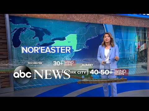 ABC News:Nor'easter takes aim with heavy rain and fierce winds