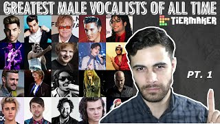 Greatest Male Vocalists of All Time TIER LIST Part 1 | Best Male Singers