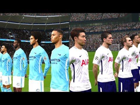 Manchester City vs Tottenham | Premier League | 16 December 2017 Gameplay