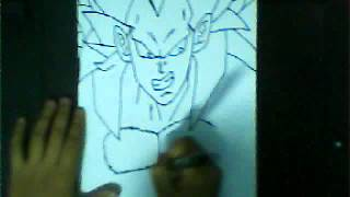 HOW TO DRAW VEGETA SSJ5 ベジータ