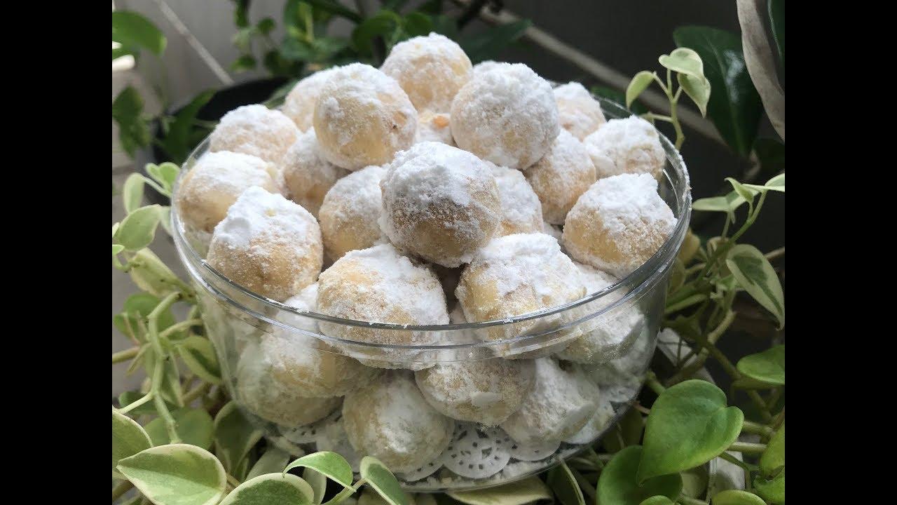 Kue Kering Salju Kacang Tanah Yang Crunchyyyyy