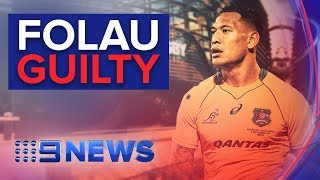 Wallabies Star Israel Folau Guilty Of Contract Breach | Nine News Australia