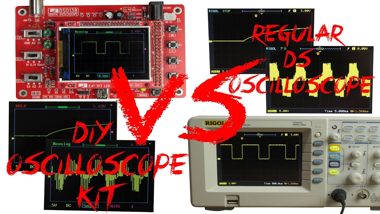 Diy oscilloscope kit 20 vs regular ds oscilloscope 400 youtube solutioingenieria Image collections