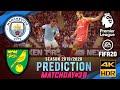 Manchester City Vs Norwich City | FIFA 20 Predicts: Premier League ● Matchday 38 | #MCINOR