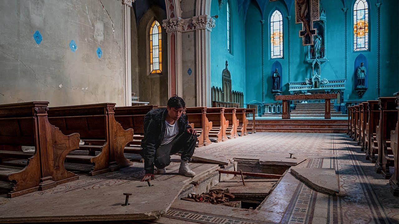 WE FOUND BONES Inside ABANDONED CHURCH - TOMB BROKE OPENED