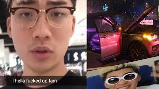 RiceGum And Faze Banks Had A Car Crash (Snapchat Stories)